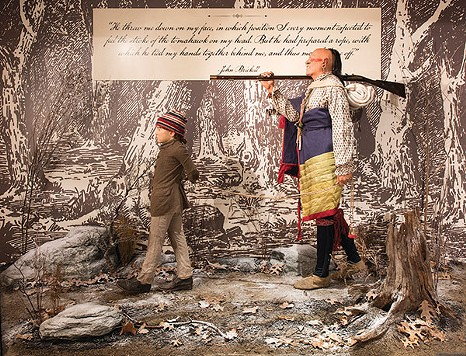 """The Capture of John Brickell,"" a life-sized vignette depicting the capture of a boy by Native Americans in 1791, a few miles from Fort Pitt - PHOTO COURTESY OF RACHELLYNN SCHOEN"