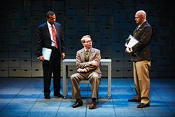 From left: LeRoy McClain, Jonathan Tindle and Matthew Stocke in Some Brighter Distance, at City Theatre - PHOTO COURTESY OF KRISTI JAN HOOVER