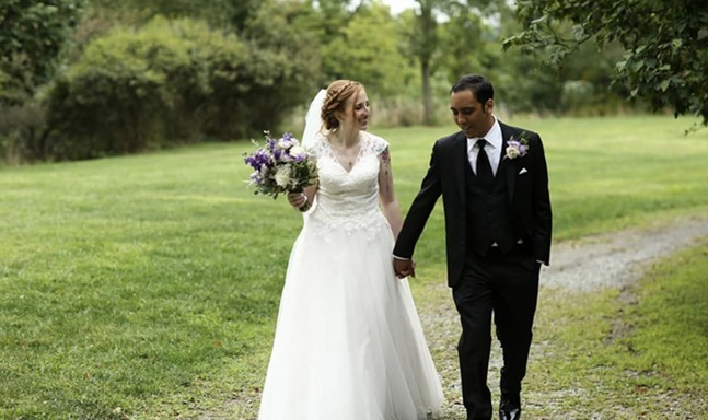 The First Friday couple Emily and Chris Brower, married in Riverview Park in 2019 - PHOTO: PROVIDED BY EMILY AND CHRIS BROWER