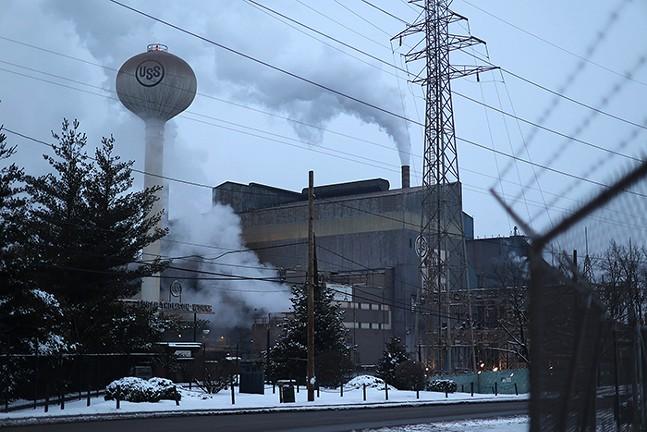 Edgar Thomson Works, a U.S. Steel Facility, in Braddock - CP PHOTO: JARED WICKERHAM