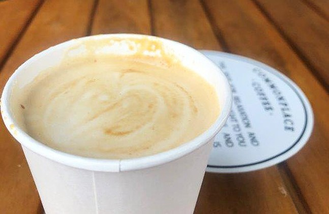 Lemon Rose Latte from Commplace Coffee - CP PHOTO: DANI JANAE