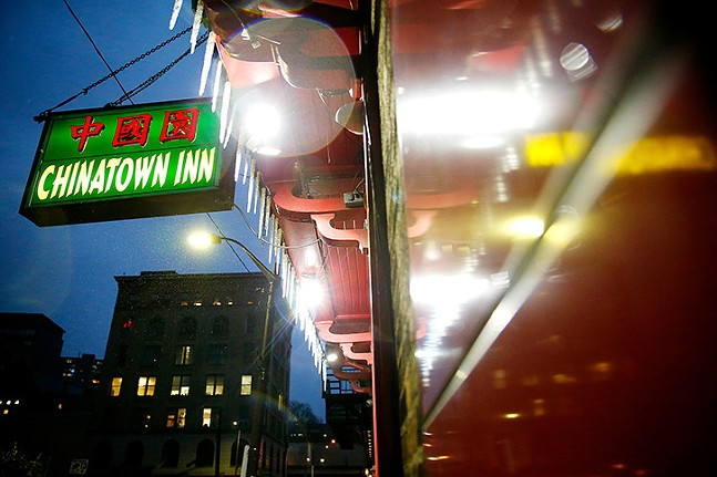 """Chinatown Inn on Third Avenue in Downtown Pittsburgh, the location of the city's """"lost"""" Chinatown - CP PHOTO: JARED WICKERHAM"""