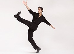 """Alejandro Diaz in James Kudelka's """"The Man in Black"""" at Pittsburgh Ballet Theater - PHOTO COURTESY OF DUANE RIEDER"""
