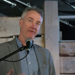 John McInerney, of the Greater Philadelphia Cultural Alliance, speaks here Feb. 26 - PHOTO BY BILL O'DRISCOLL