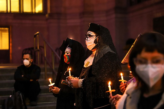 Trans YOUniting's candlelight vigil in honor of the four lives lost in the past two weeks - CP PHOTO: KAYCEE ORWIG