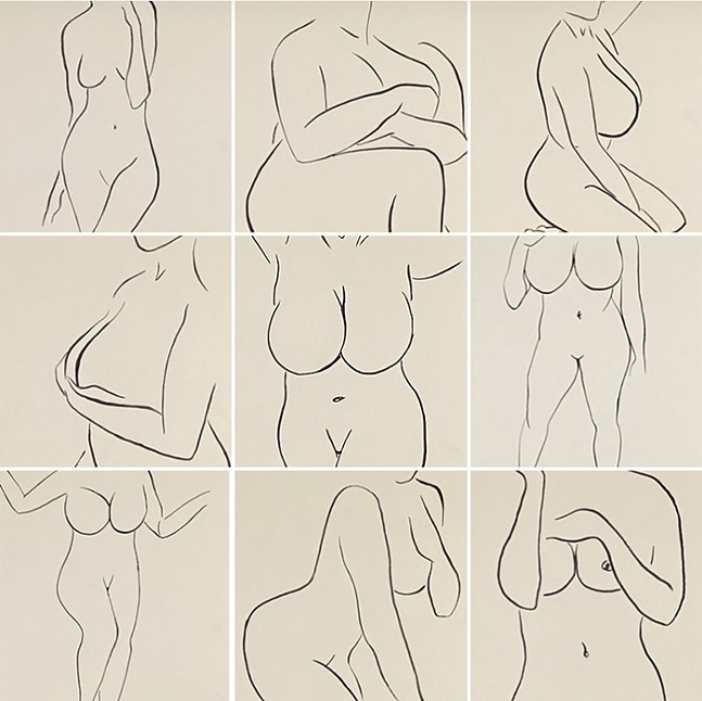 L'Instant at Thoughtrobbers Gallery - ARTWORK: KARA BIALECKI