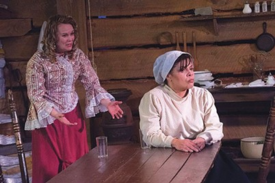 """Tami Dixon (left) and Chrystal Bates in """"Miss Julie, Clarissa and John"""" - PHOTO COURTESY OF GAIL L. MANKER"""