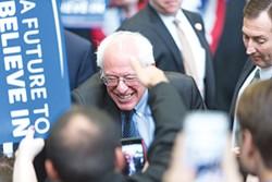 Bernie Sanders greets supporters in Pittsburgh on March 28 - PHOTO BY RENEE ROSENSTEEL