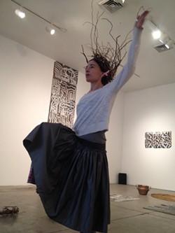 Gia. T. Cacalano rehearses at 707 Penn - PHOTO COURTESY OF JENNIFER NAGLE MYERS