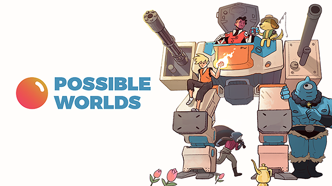 The Possible Worlds logo by Austin Breed