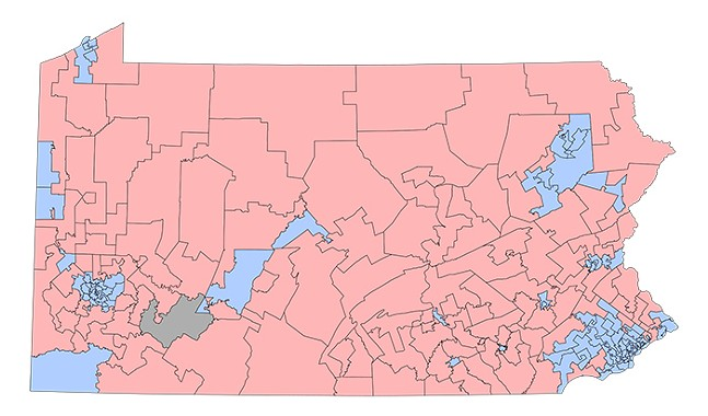 Current boundaries of Pennsylvania's 203 state House districts