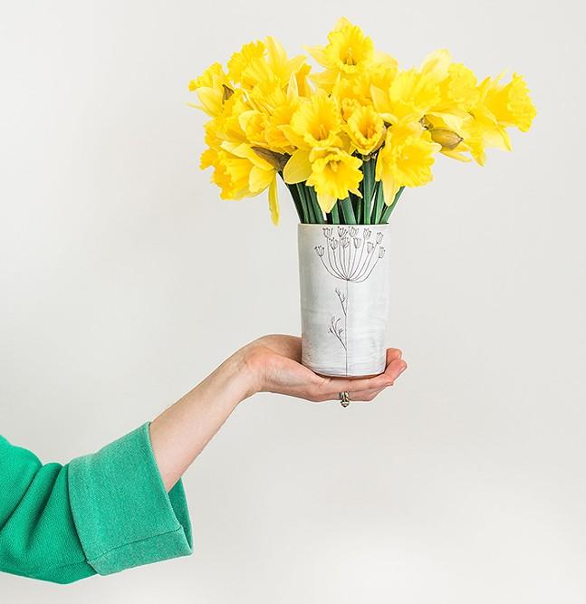 Earthenware Tumbler/Vase by Jenna Vanden Brink Ceramics - PHOTO: CARA RUFENACHT CREATIVE