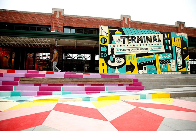 The Terminal building in Pittsburgh's Strip District neighborhood - CP PHOTO: JARED WICKERHAM