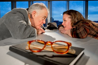 "John Shepard and Hayley Nielsen in ""The Master Builder"" - PHOTO COURTESY OF JOHN ALTDORFER"