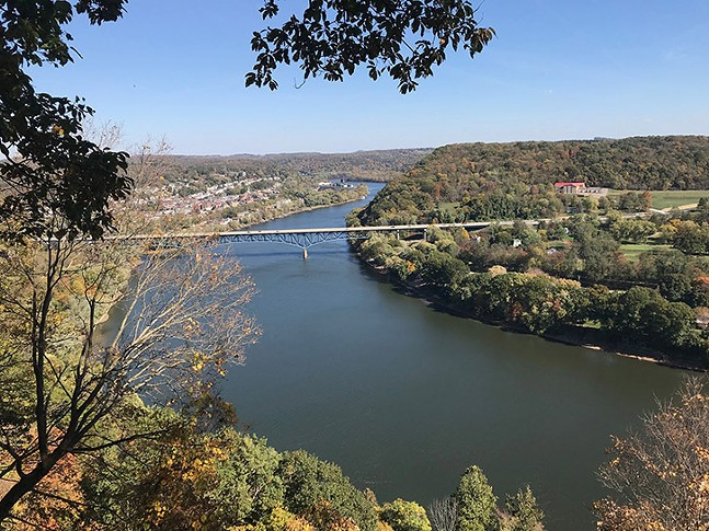 View of Allegheny River from Harrison HIlls Park - CP PHOTO: RYAN DETO