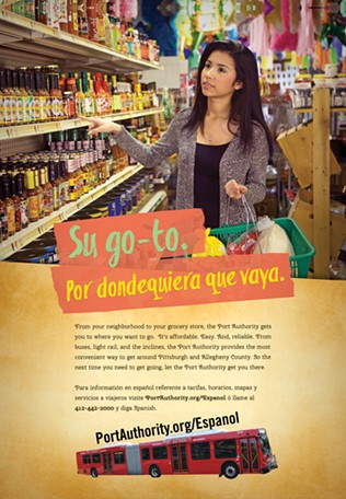 "In English the ad reads: ""Your go-to, where ever you go."" - IMAGE COURTESY OF PORT AUTHORITY"