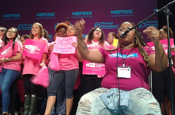 """Washington, D.C.-based musicians BOOMscat performed at the """"Power of Pink"""" Planned Parenthood Action Fund rally on Saturday morning in Pittsburgh. - PHOTO BY ASHLEY MURRAY"""