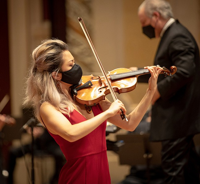 Pittsburgh Symphony Orchestra's Ultraviolinistics with Simone Porter - PHOTO: ED DEARMITT FOR THE PITTSBURGH SYMPHONY