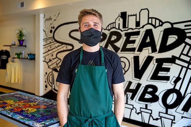 Conner Claussen, owner of Claussen Cafehaus - CP PHOTO: KAYCEE ORWIG
