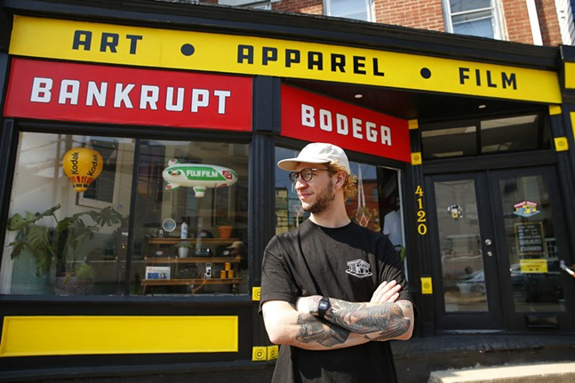 Pat Bruener, owner of Bankrupt Bodega, poses for a portrait outside of the shop. - CP PHOTO: JARED WICKERHAM