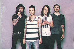 Not going unnoticed: Dashboard Confessional (Chris Carrabba, second from left) - PHOTO COURTESY OF DAVID BEAN