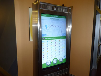 Digital information kiosk that will be installed at Downtown light-rail stations - PHOTO BY RYAN DETO