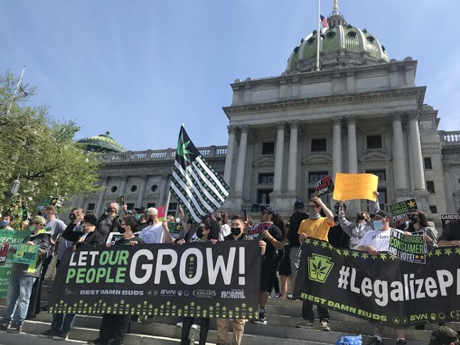 Rally for marijuana legalization held on April 20 at Harrisburg Capitol building - CAPITAL-STAR PHOTO BY ELIZABETH HARDISON