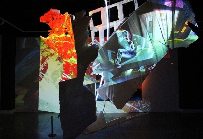 Image of a video installation by Tra Bouscaren