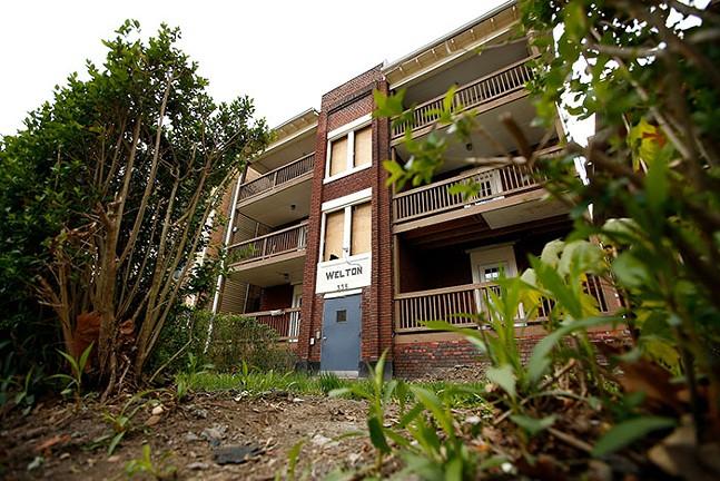 Baird's apartment building in North Oakland - CP PHOTO: JARED WICKERHAM