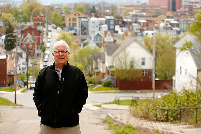 Rick Swartz, executive director of Bloomfield-Garfield Corporation, poses for a portrait in Garfield on Fri., April 23, 2021. - CP PHOTO: JARED WICKERHAM