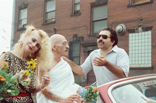 "Tony Buba (right) on the set of 1988's ""Lightning Over Braddock"" - IMAGE COURTESY OF BRADDOCK FILMS"