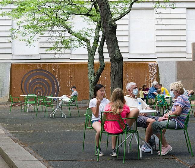 Carnegie Museum of Art courtyard - PHOTO: BRIAN CONLEY