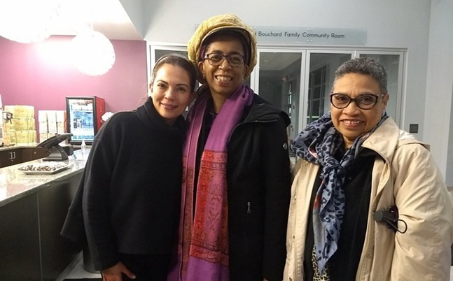 From left: Carolina Thor, executive director of The Tull Family Theater; Nadine M. Patterson; and, Martha Richards Conley - COURTESY OF TULL FAMILY THEATER