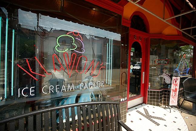 Klavon's Ice Cream Parlor in Pittsburgh's Strip District neighborhood - CP PHOTO: JARED WICKERHAM