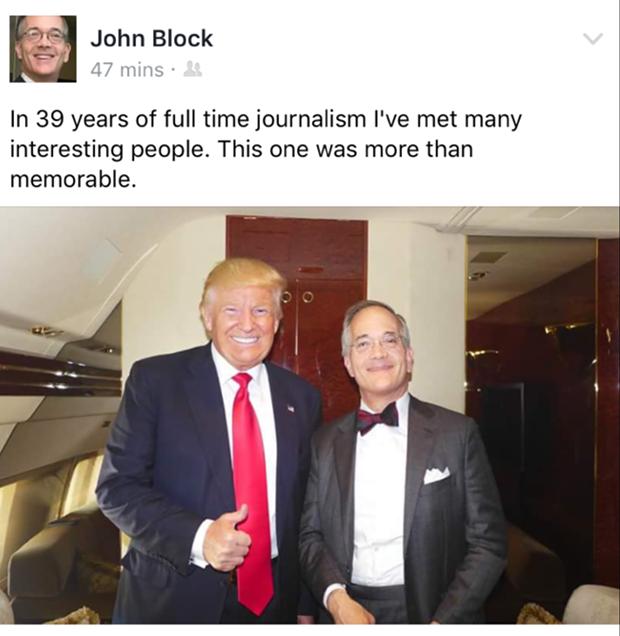 Donald Trump and Post-Gazette Publisher/Editor-in-Chief John Robinson Block