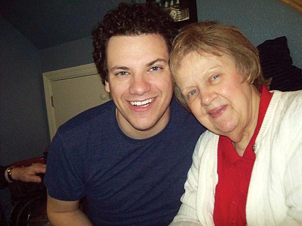 Brandon Grbach and his grandmother - PHOTO COURTESY OF BRANDON GRBACH