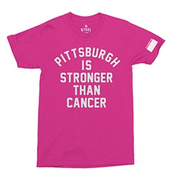 """Steel City's """"Pittsburgh Is Stronger Than Cancer"""" T-shirt design"""