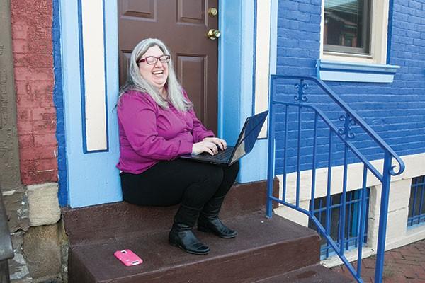 Sue Kerr, winner of Best Local Blogger - CP PHOTO BY JOHN COLOMBO