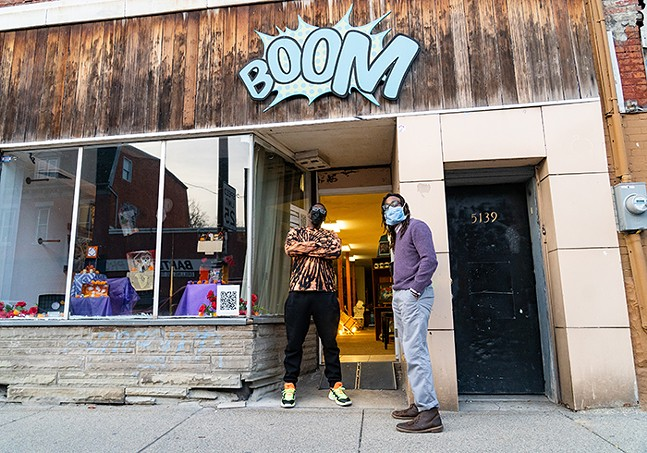 Thomas Agnew and D.S. Kinsel of Boom Concepts in Garfield - CP PHOTO: LAKE LEWIS