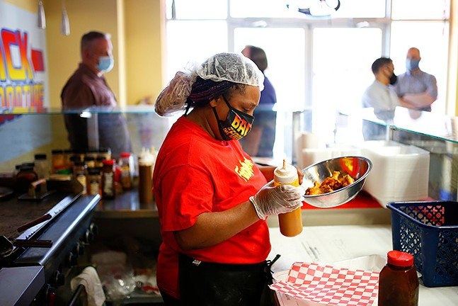 Local Hidden Gem: Co-owner Angel Magwood at Back to the Foodture on the South Side - CP PHOTO: JARED WICKERHAM