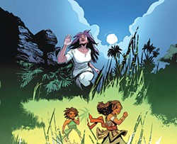 A panel from The World of Wakanda, with art by Afua Richardson