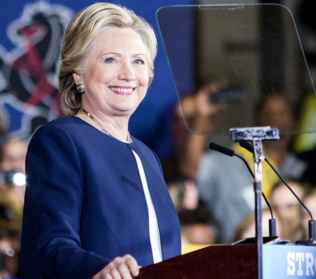 Hillary Clinton at Heinz Field, on Fri. Nov. 4 - CP PHOTO BY LUKE THOR TRAVIS