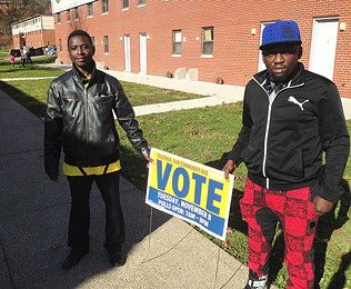 Abdulkadir Chirambo (left) and Abdulkadir Hassan in Northview Heights, home of Pittsburgh's Somali Bantu community - CP PHOTO BY RYAN DETO
