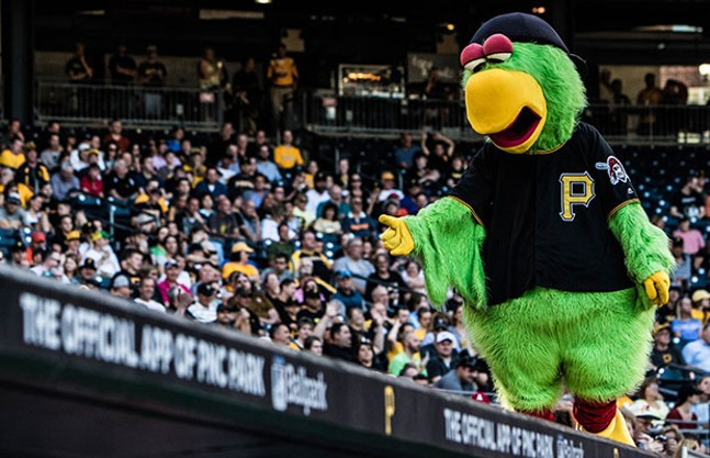 The Pirate Parrot at a Pittsburgh Pirates game at PNC Park this spring - CP PHOTO BY LUKE THOR TRAVIS