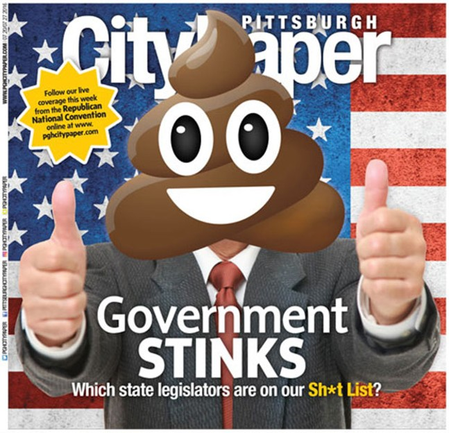 July 20, 2016 cover story on state legislators on our Shit List