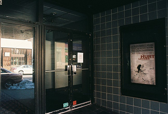 Squirrel Hill Theater entrance after it closed - PHOTO: STEVEN HAINES