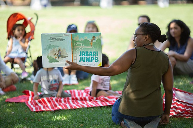 Storytime at Schenley Plaza in Oakland - PHOTO: COURTESY OF THE PITTSBURGH PARKS CONSERVANCY