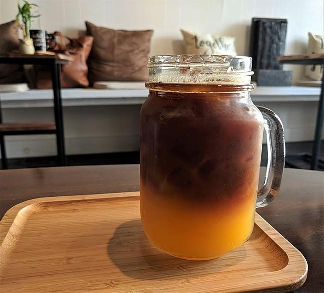Orange Freshpresso: A shot of espresso over fresh-squeezed orange juice at Ka-Fair Coffee - CP PHOTO: MAGGIE WEAVER