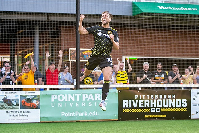 Riverhounds Russell Cicerone - PHOTO: CHRIS COWGER