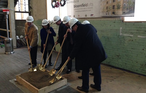 Groundbreaking at Bloomfield Lofts - CP PHOTO BY RYAN DETO